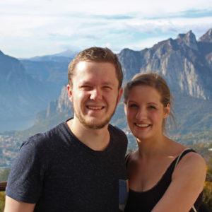 Wir: David und Lisa
